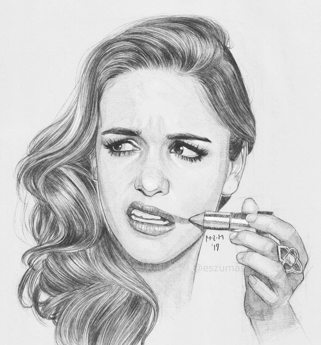 pencil drawing melissa fumero