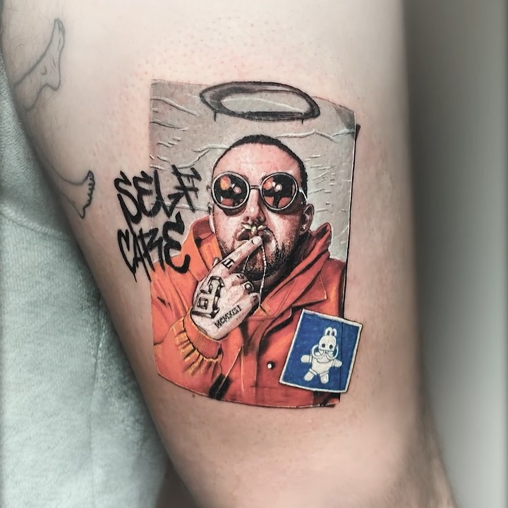 tattoo art portrait man by eden kozo