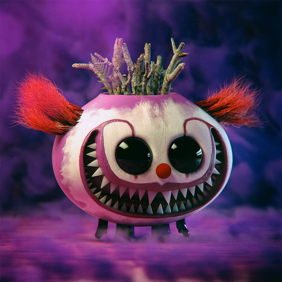 funny 3d model design clown