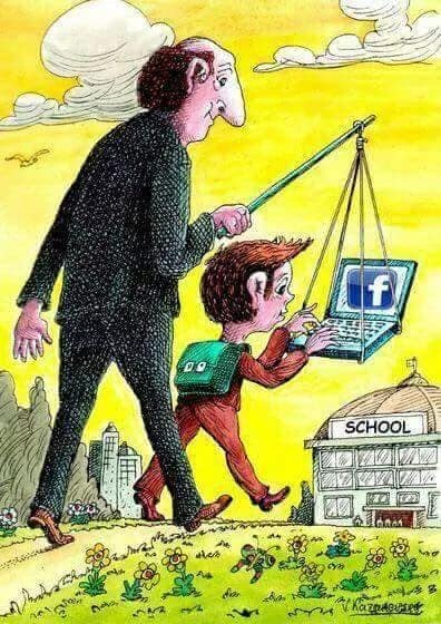 funny cartoons social media child facebook