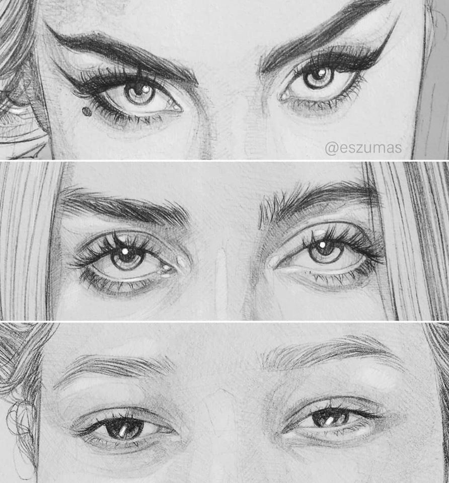 pencil drawing eyes
