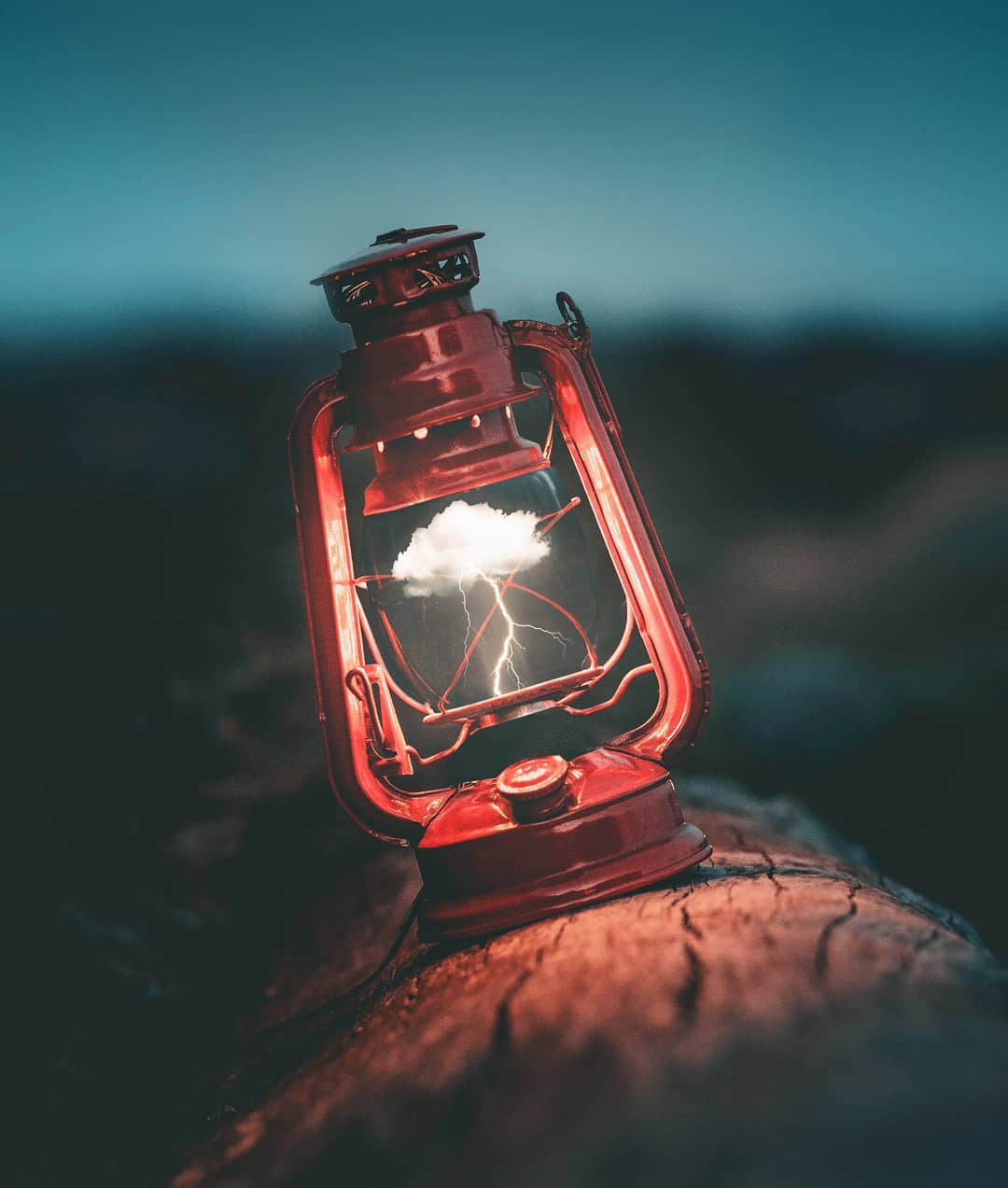 photo manipulation lantern