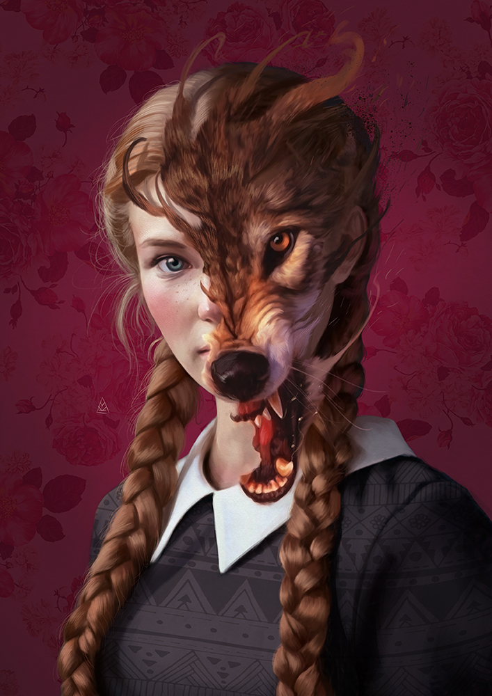 surreal artworks animal personality