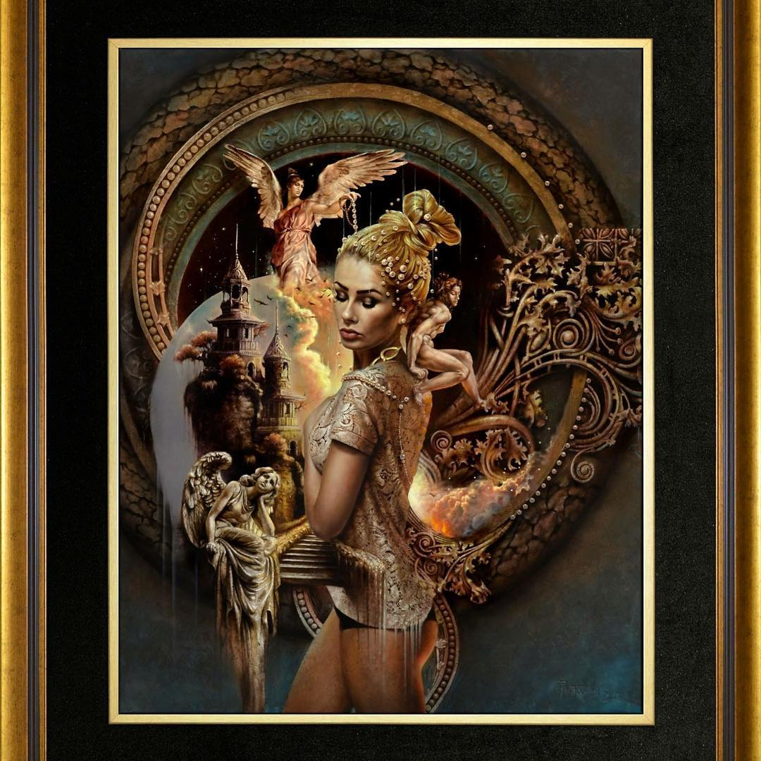 surreal oil painting dancer