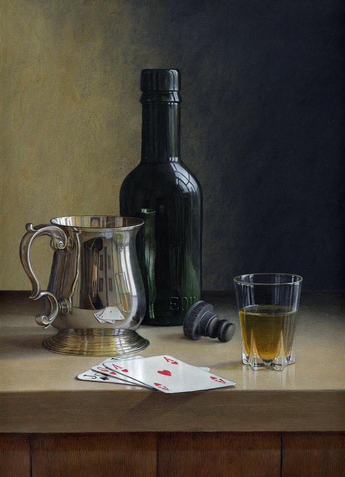 acrylic still life painting card by tim gustard
