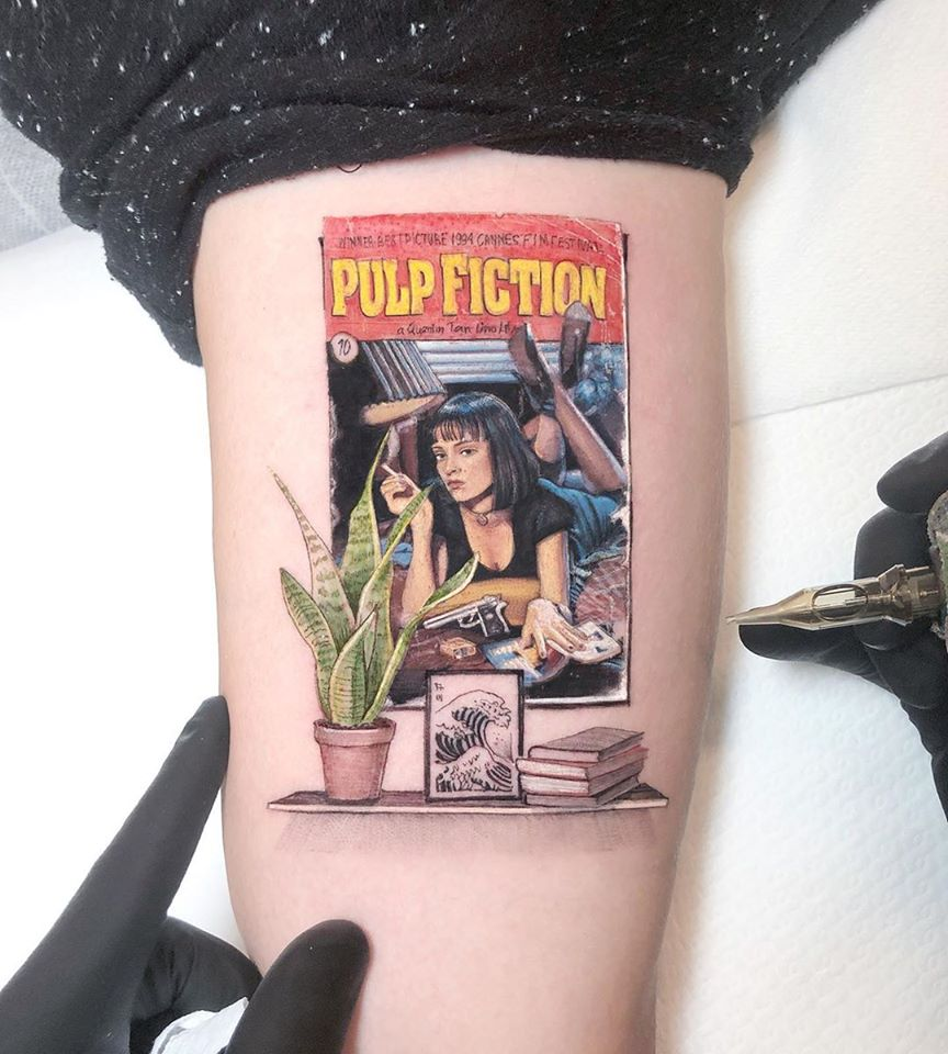 tattoo funny pulp fiction by eden kozo