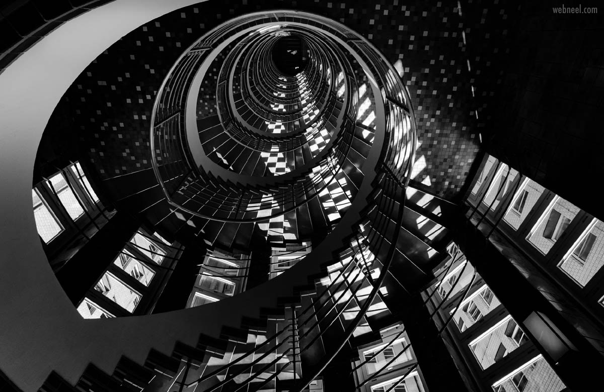 abstract photography black white stairs by martin wacker
