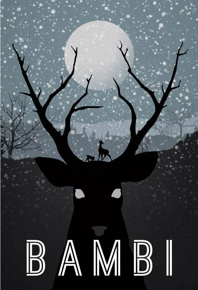 optical illusiion movie poster bambi