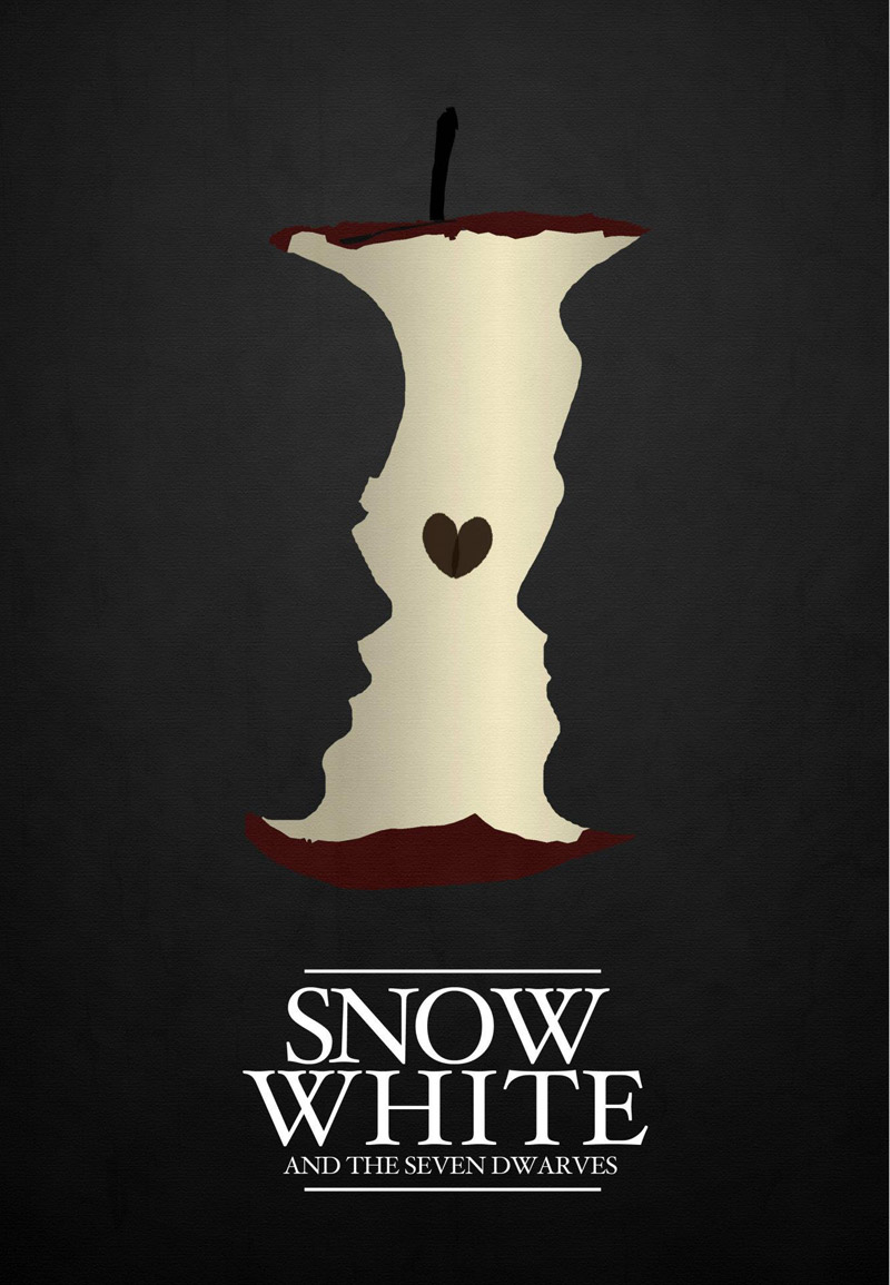optical illusiion movie poster snow white
