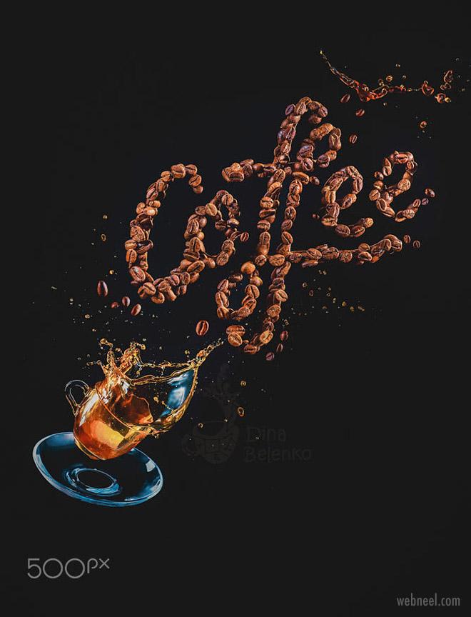 photo manipulation coffee by dina belenko
