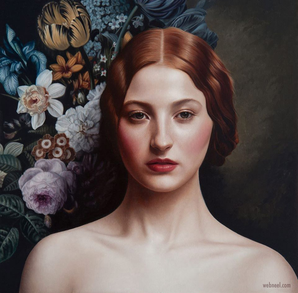 portrait painting by mary jane ansell