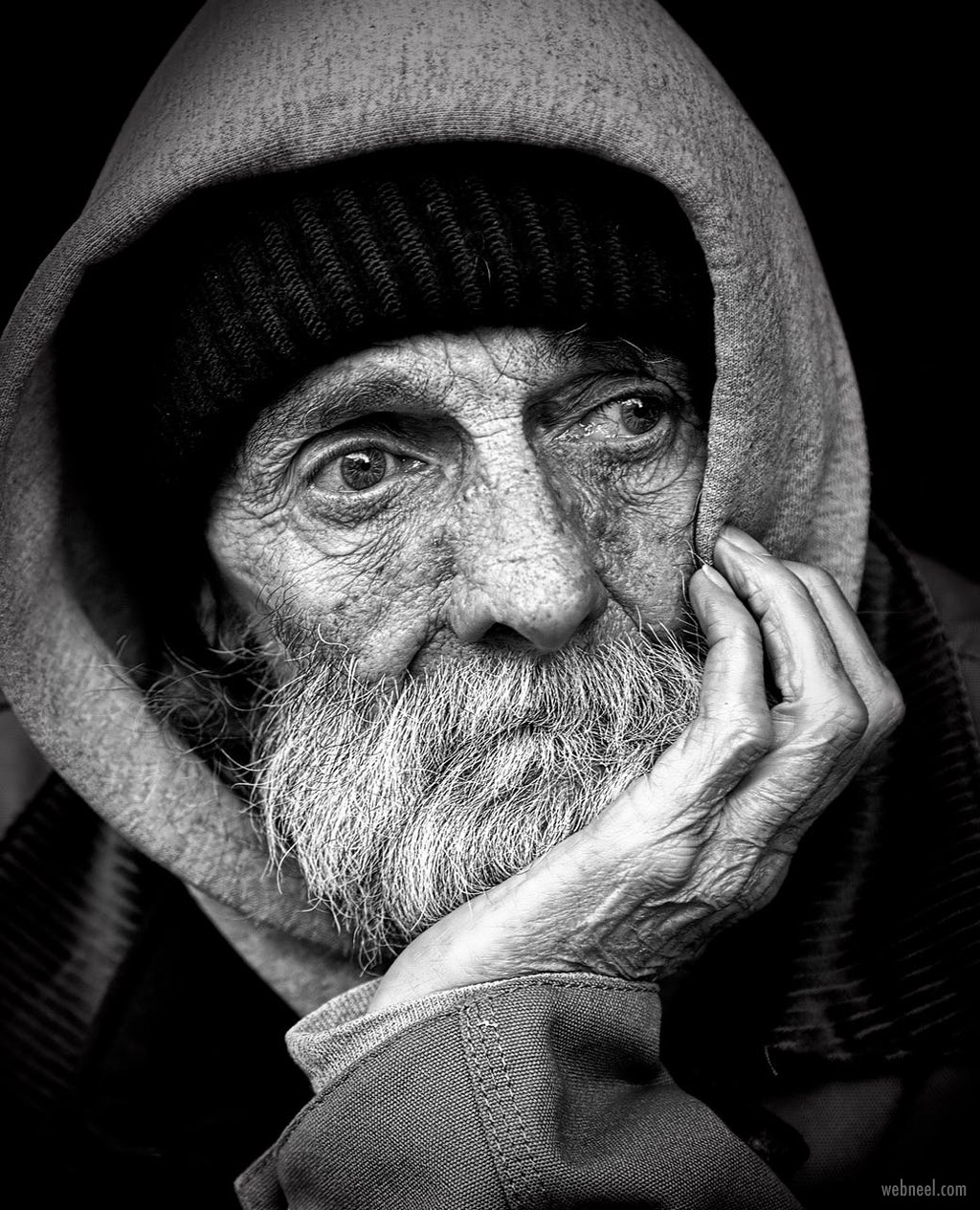 portrait photography black white homeless
