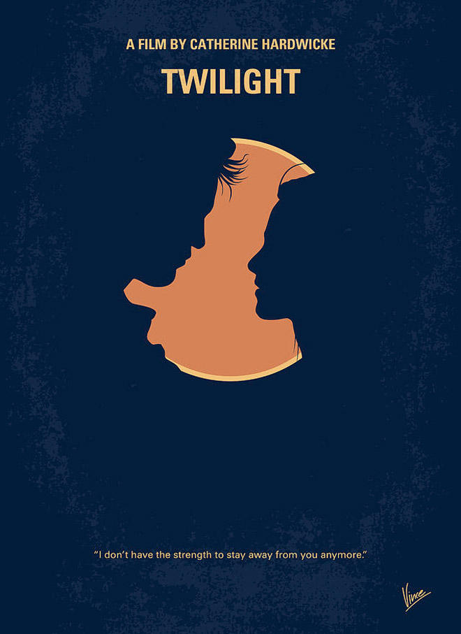twilight minimal movie poster by chungkong art
