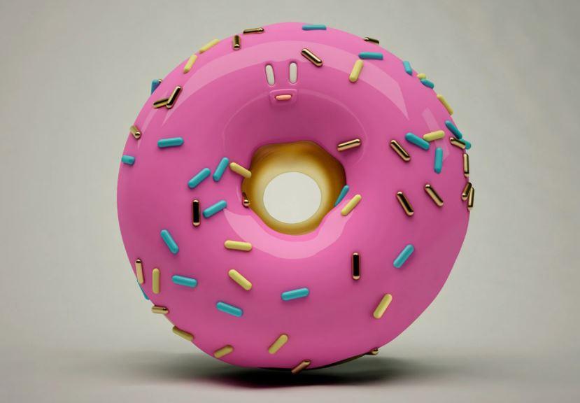 3d model doughnut