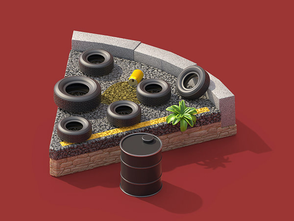 3d model pizza tyre