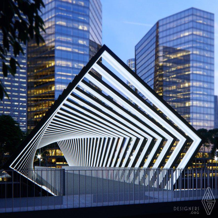 award winning design solar skywalls energetic activation of footbridges by peter