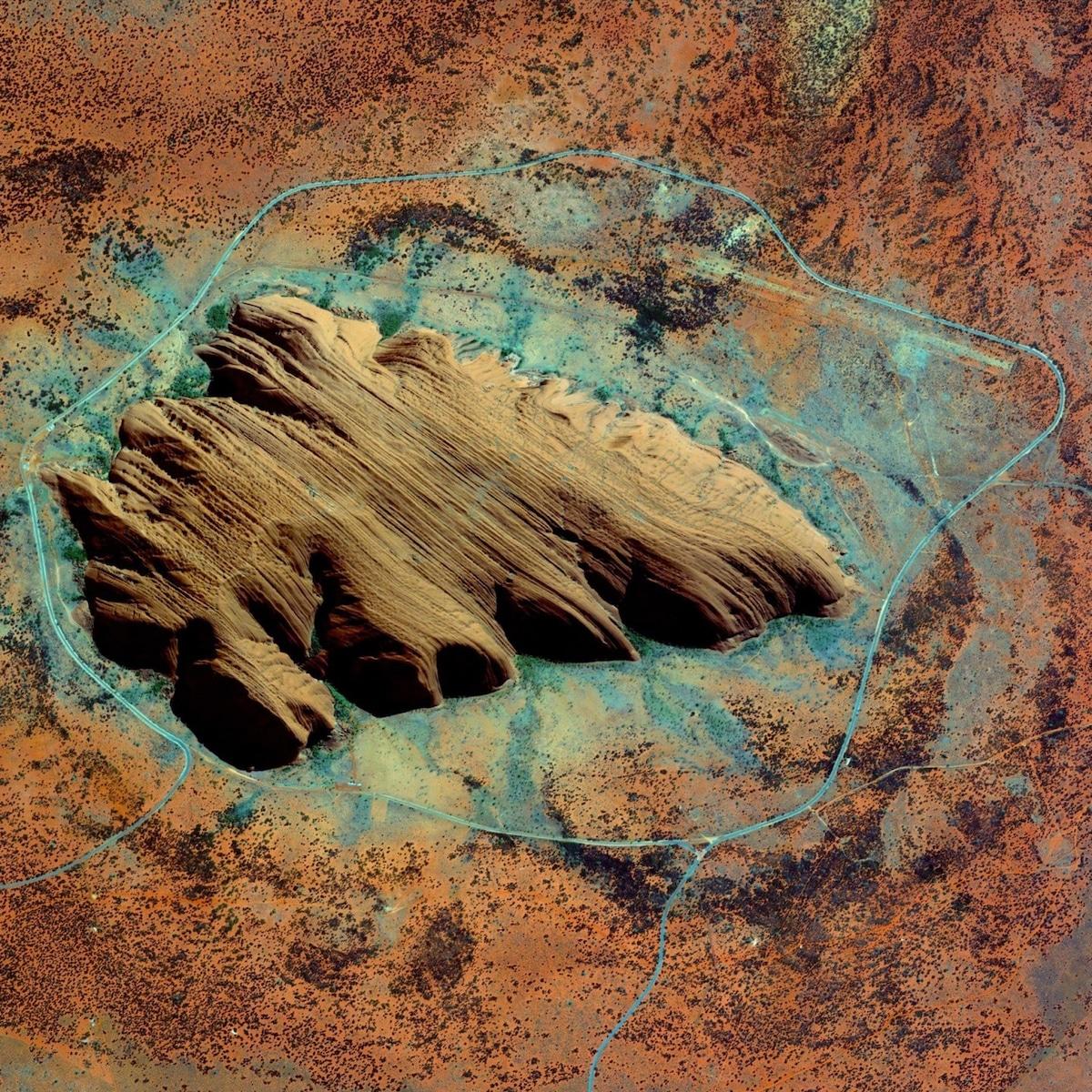 unesco world heritage sites ayers rock uluru kata by maxar technologies