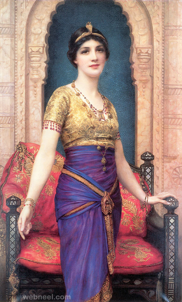 wontner egyptian beauty old painting