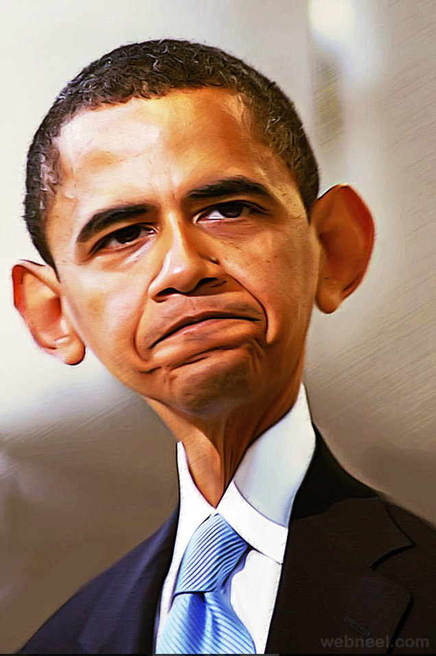 obama caricature by famorphing