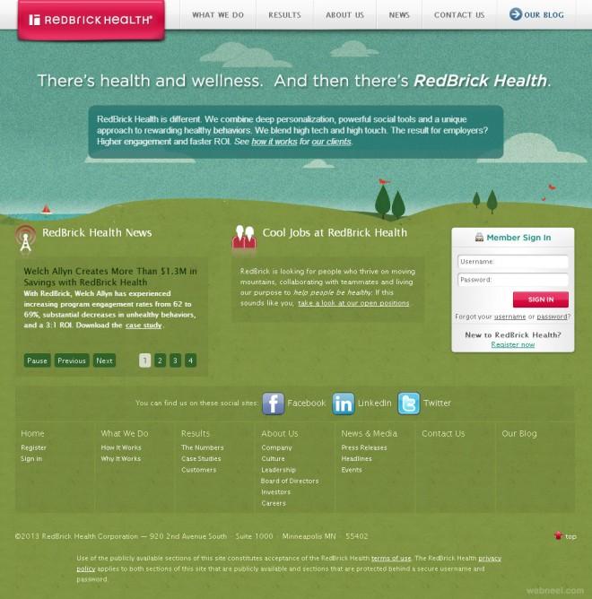 redbrick corporate website design