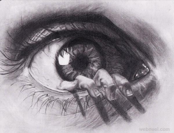eye drawing by cerera