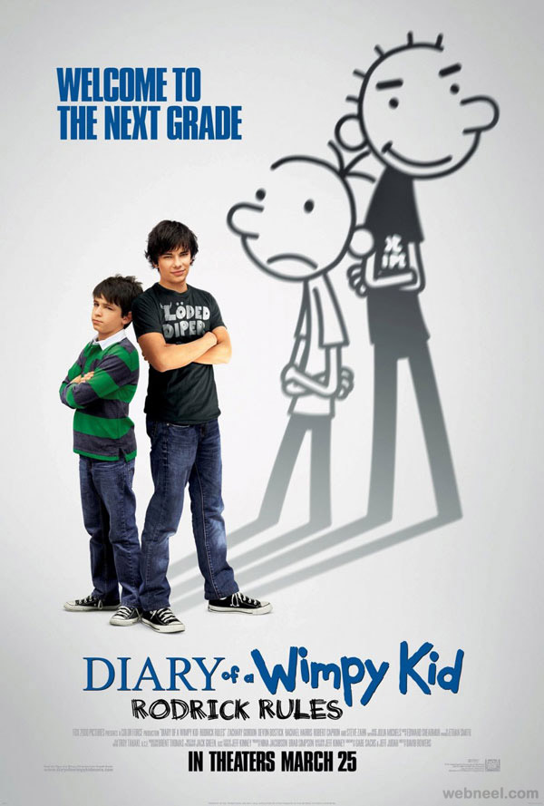 diary of a wimpy kid creative movie poster design