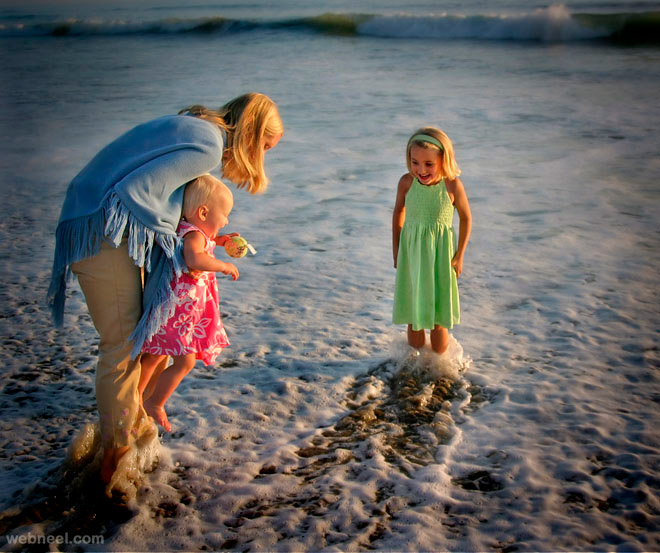 funny photograph beach kids