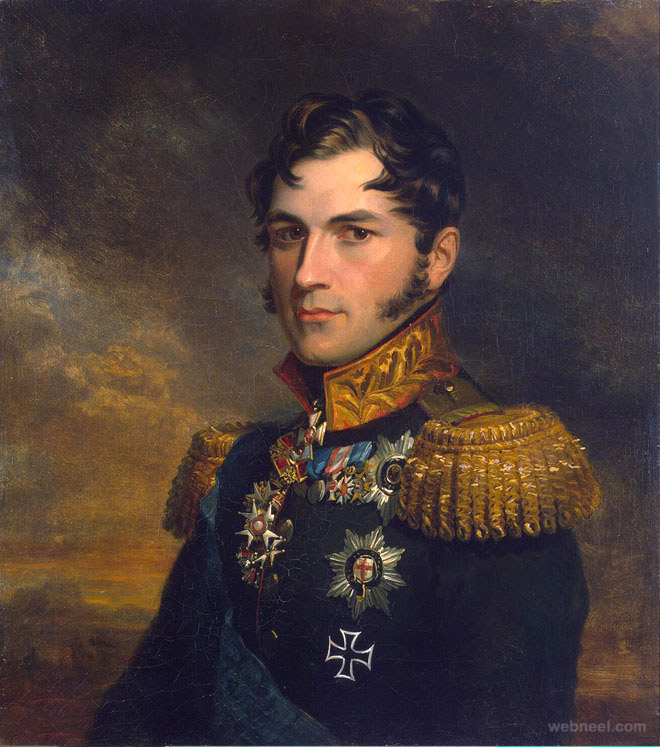 portrait of leopold prince old painting