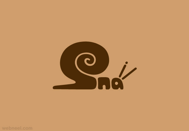 snail typography design