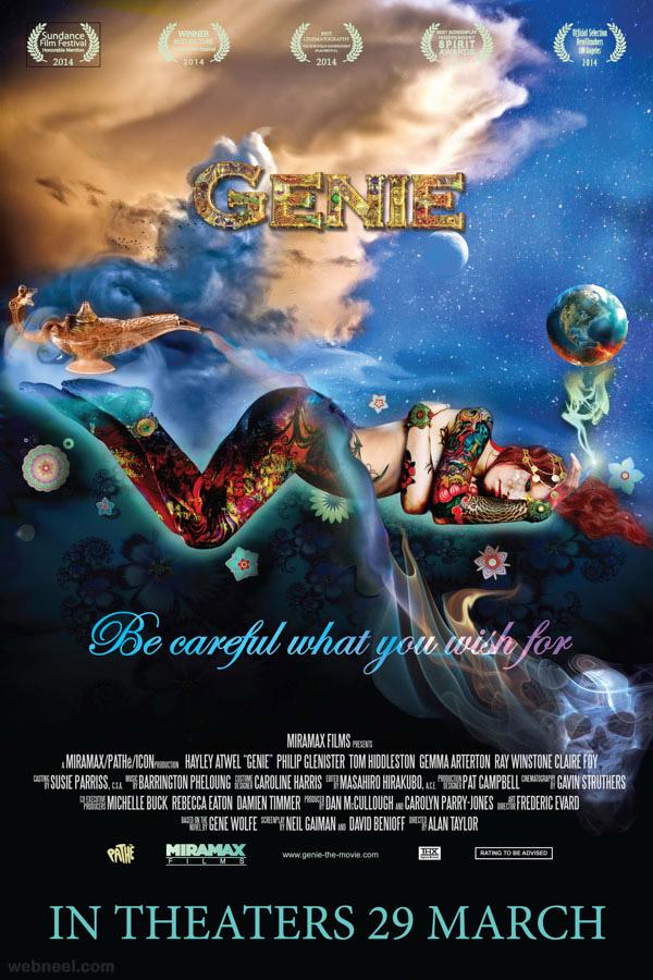 genie creative movie poster design