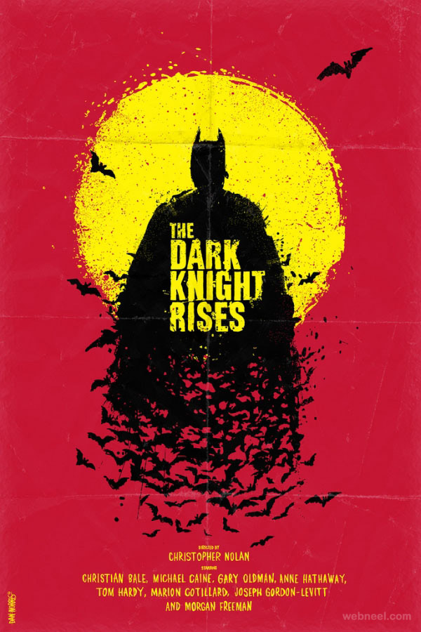 the dark knight rises creative movie poster design