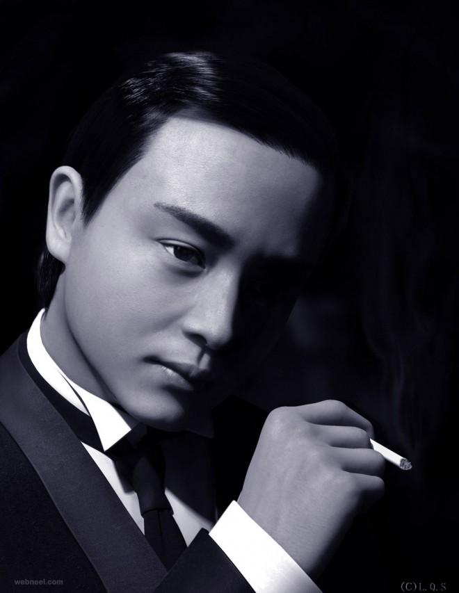 3d portrait luo qisheng