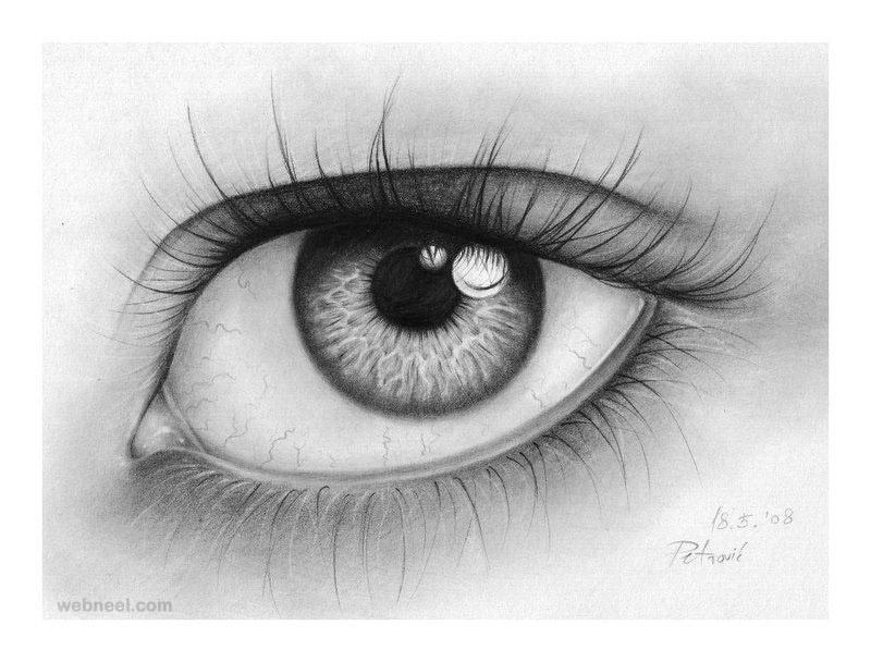beautiful eye drawing