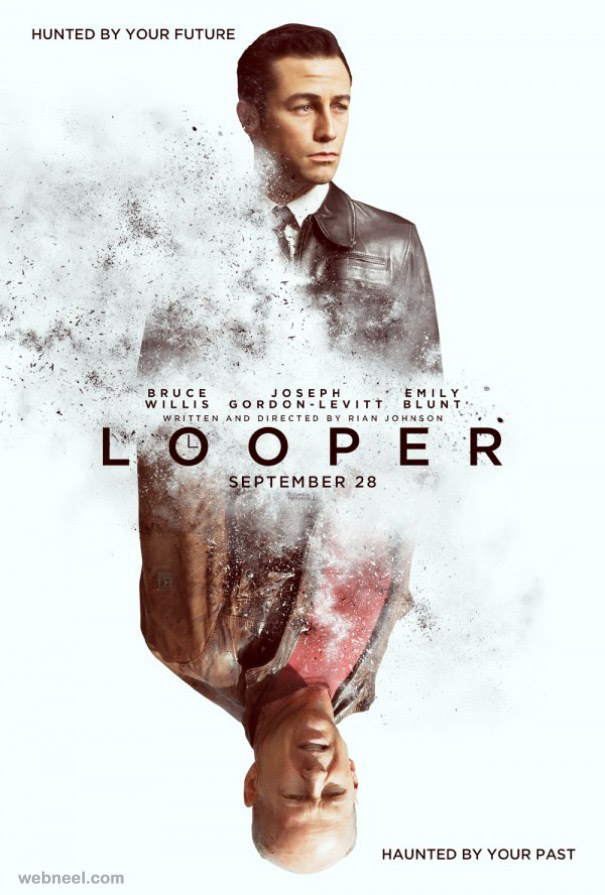 looper creative movie poster design