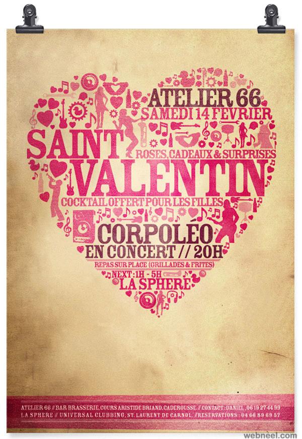 saint valentine typography