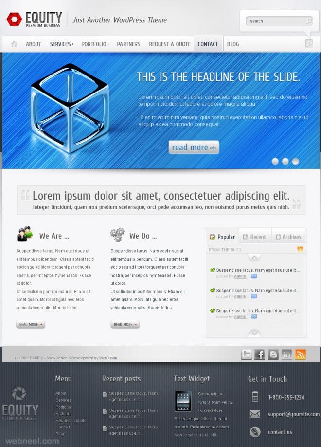 equity corporate website design