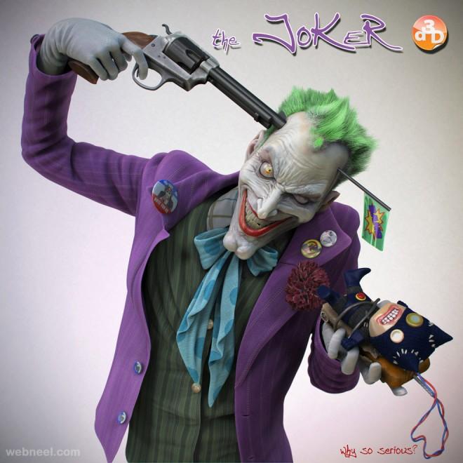 joker 3d character design