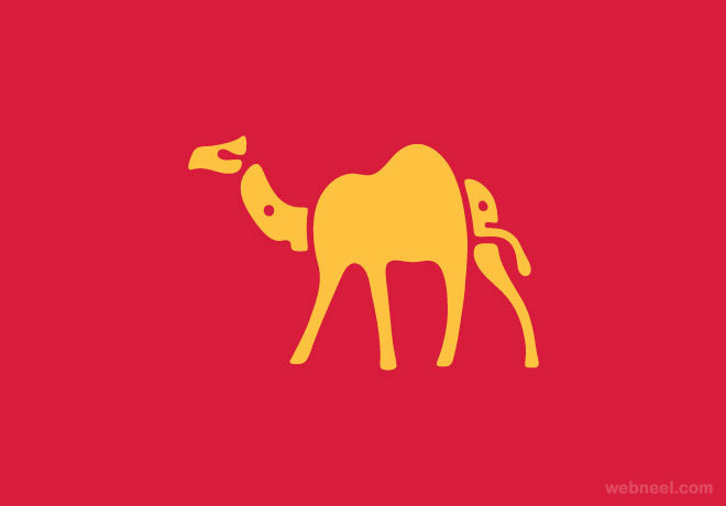camel typography design