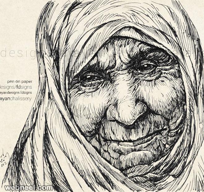 mother teresa drawings