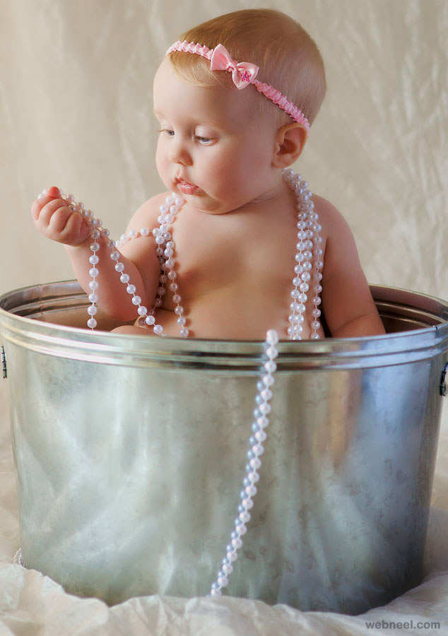 pearls baby photography