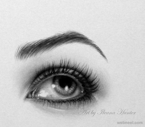 hyper realistic eye drawing