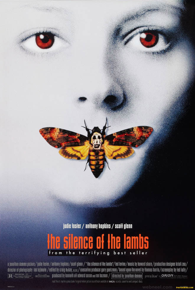 silence of the lambs creative movie poster design