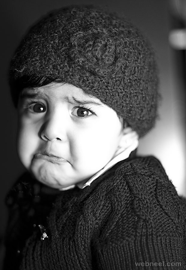 crying baby photography