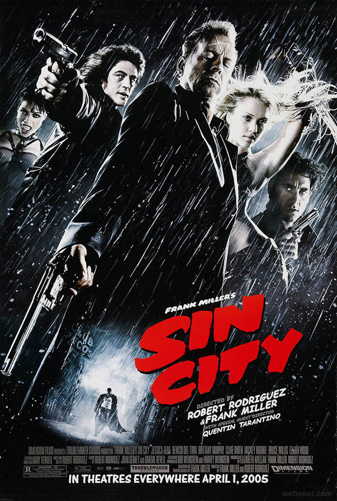 sin city creative movie poster design