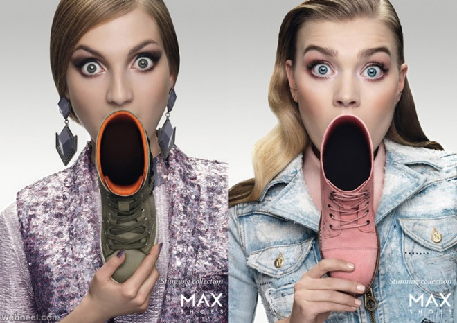 creative advertisement ad max shoes