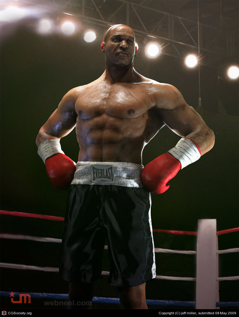 boxer 3d character design