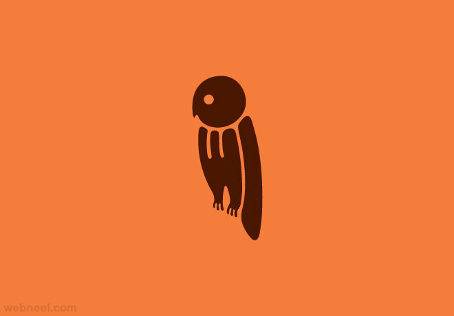 owl typography design