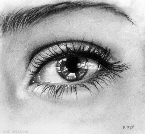 realistic eye pencil drawing dehro