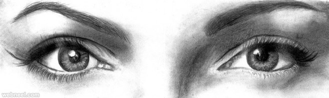 eyes pencil drawing