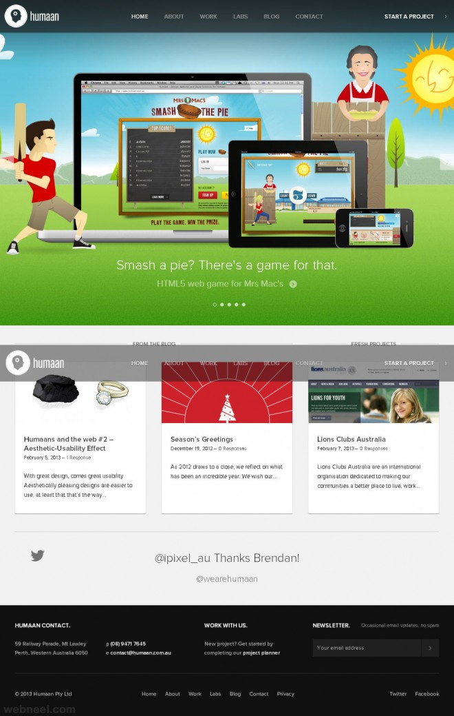 humaan corporate website design